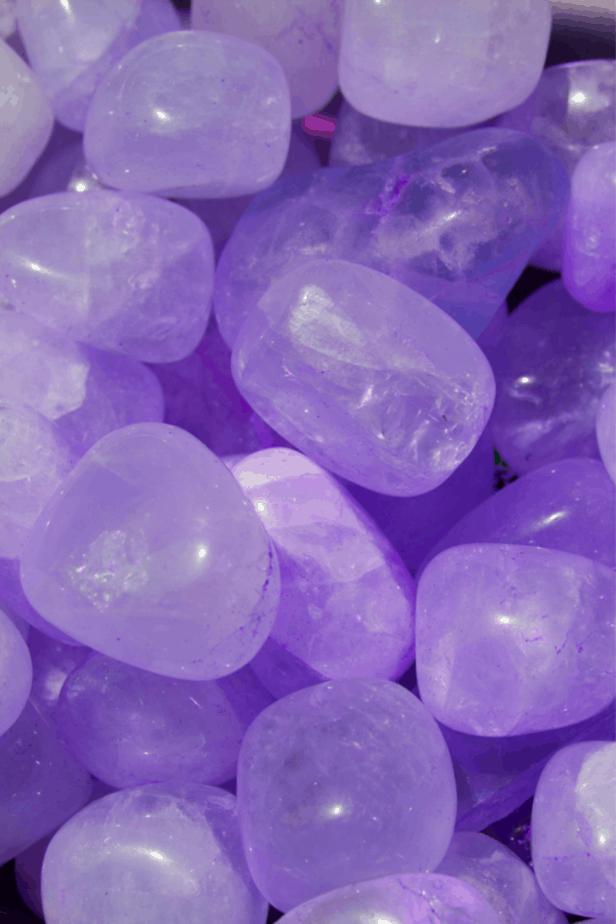 Lavender Phosphosiderite crystals