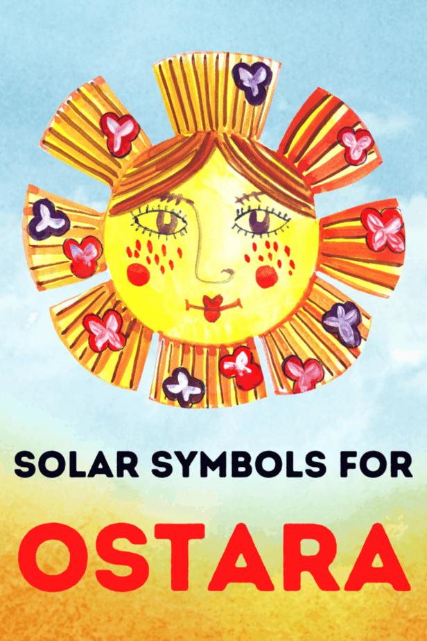 A watercolor sun on a sunny background. Solar symbols for Ostara.