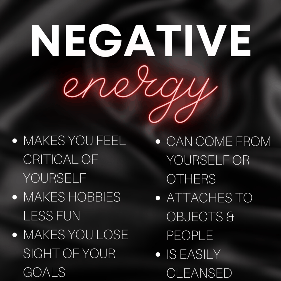 Why negative energy will lead to you burning out from being a witch. Avoid negative energy.