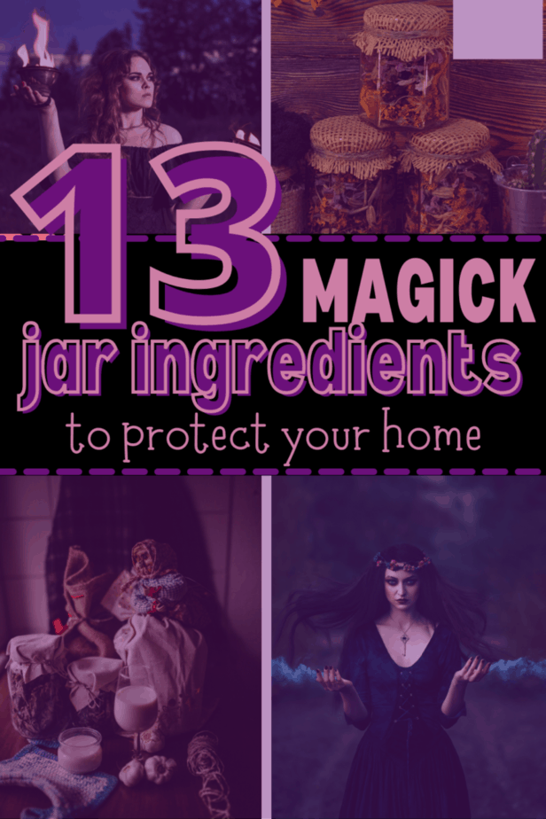 Decorative Image | How To Make A Protection Jar (Ingredients & Spell) | Protect your house, your family, and yourself with easy to make protection jars. This ancient form of witchcraft can be used to protect anything you want.