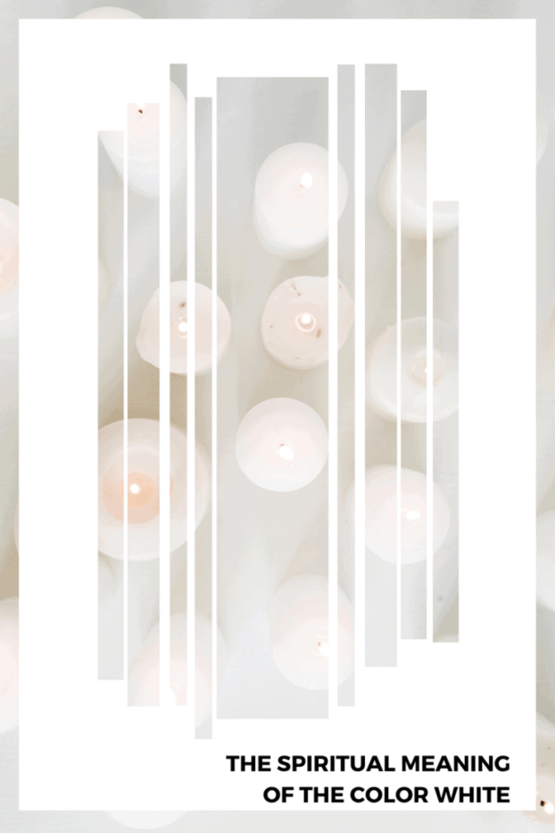 White candles. The spiritual meaning of the color white.