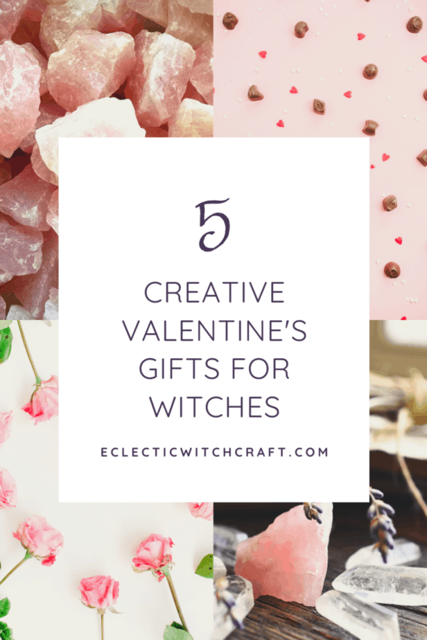 Rose quartz crystals. Roses. Chocolates. Red hearts. Clear quartz crystals. Lavender. 5 creative Valentine's Day gifts for witches.