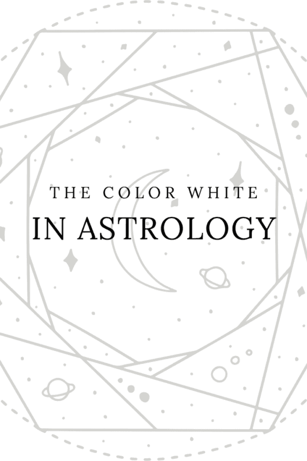 The color white in astrology. Astrological symbolism like a crescent moon.