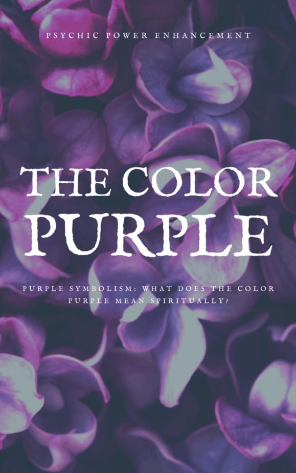 Purple symbolism and purple flowers