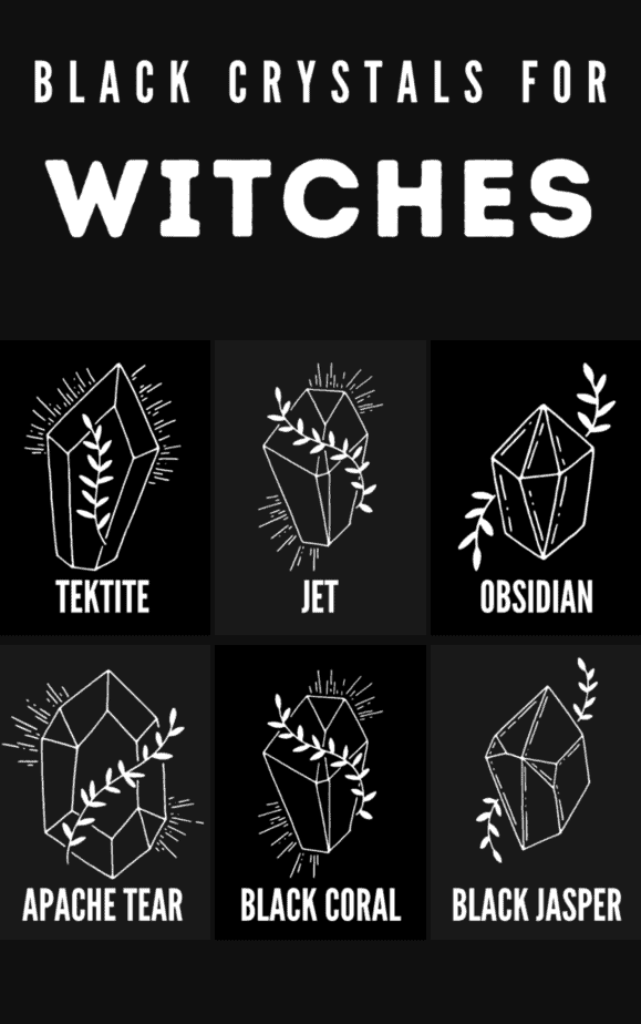 Black crystals for witches.