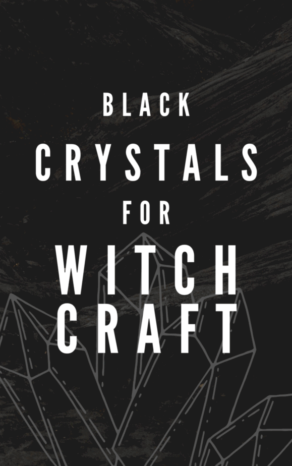 Black crystals for witchcraft.