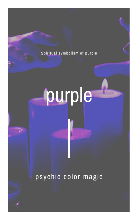 Purple candles