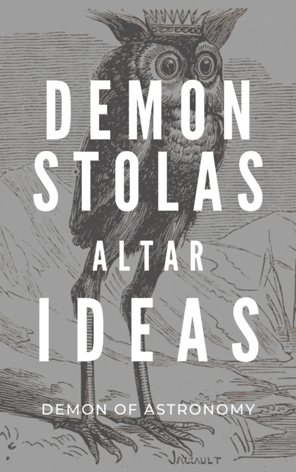 Demon stolas altar ideas