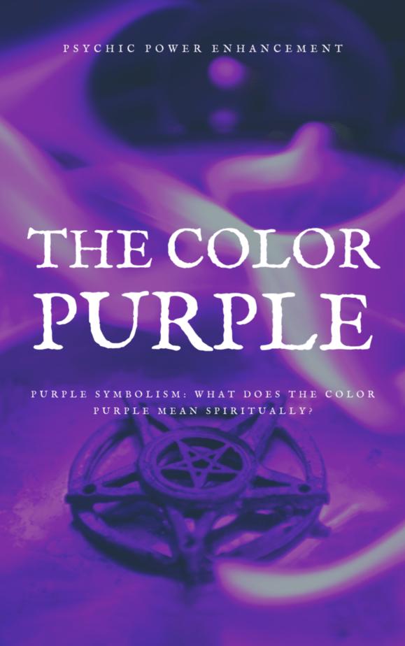 A purple pentacle on fire