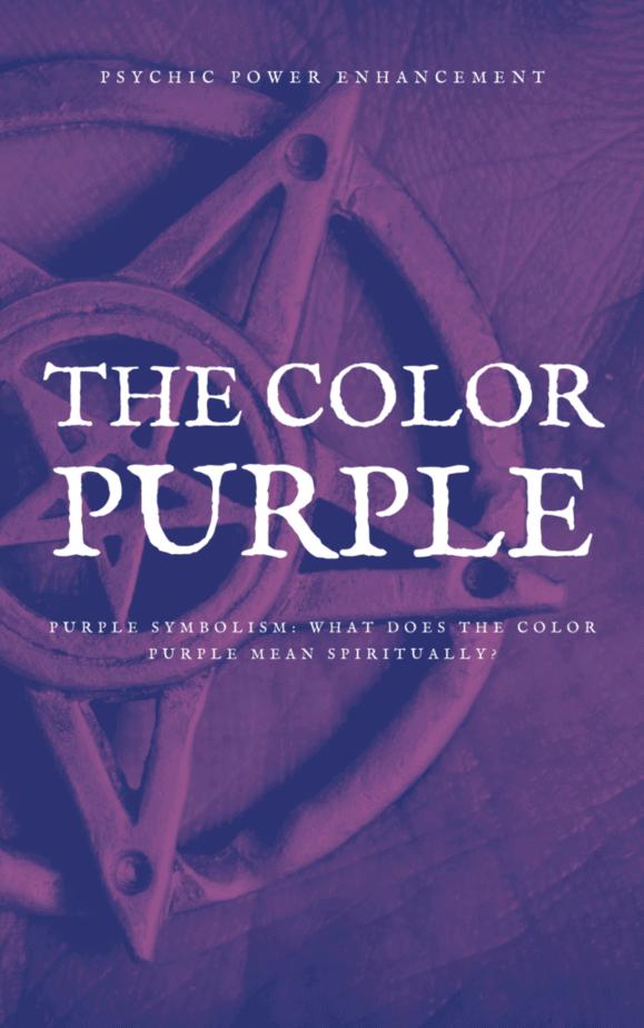 A purple pentagram