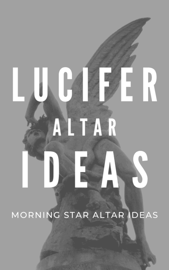 Lucifer morning star altar ideas. A statue of Lucifer falling from heaven.