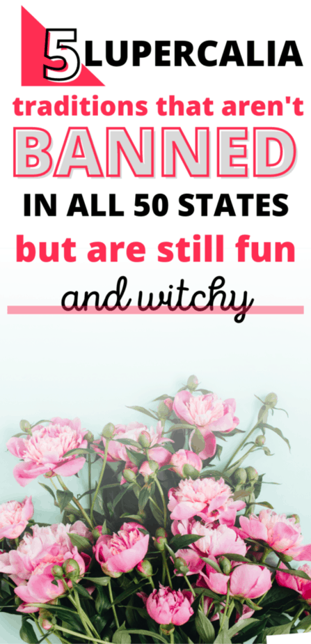 Lupercalia traditions that aren't banned in all 50 states but are still fun and witchy. Red flowers.