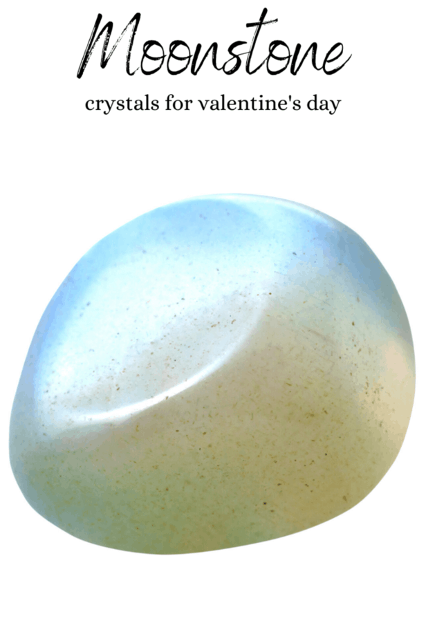Moonstone crystals for Valentine's Day.