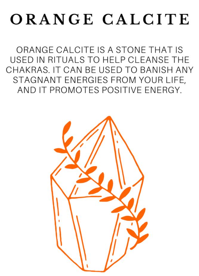 Orange calcite crystal healing for Easter.