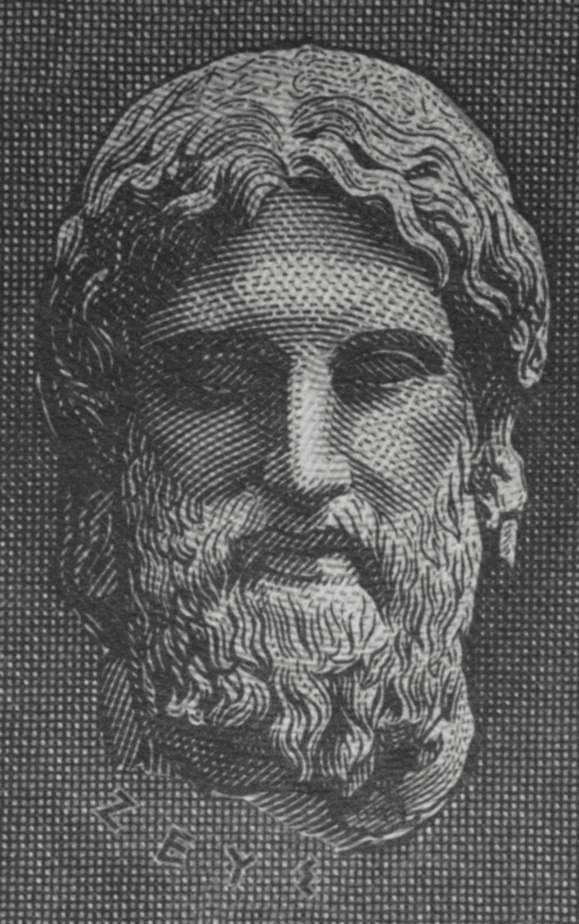 Zeus altar ideas. An illustration of the head of Zeus.