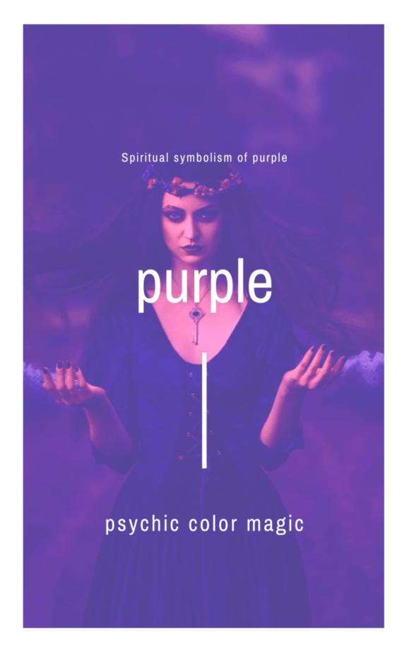 A witch in hazy purple