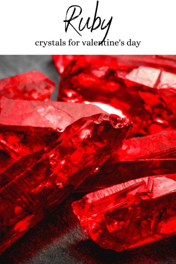 Ruby crystals for Valentine's Day.
