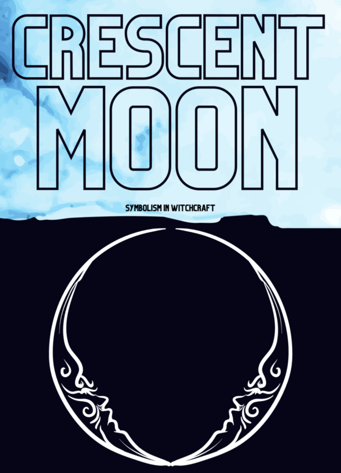 Crescent moon symbolism in witchcraft. An illustration of the crescent moons.