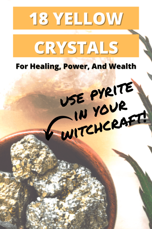 18 yellow crystals. Use pyrite in your witchcraft.