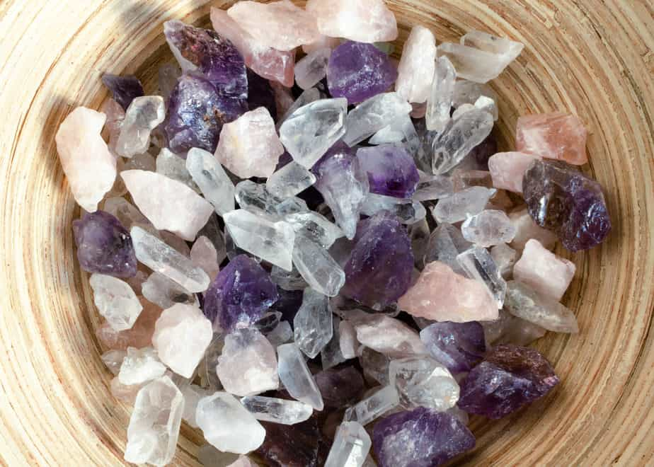 Crystals in a bowl