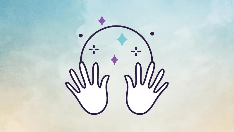 Hands doing magic